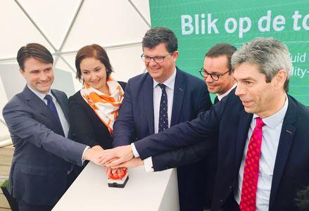 Vlaams minister van Energie Bart Tommelein geeft startschot voor bouw van warmtecentrale