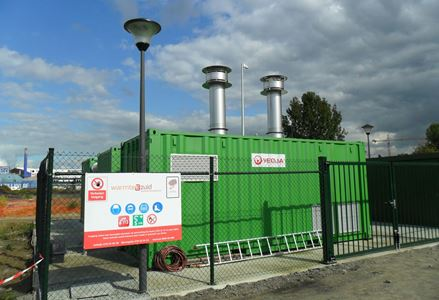Tijdelijke warmtecentrale levert warmte aan eerste gebouwen