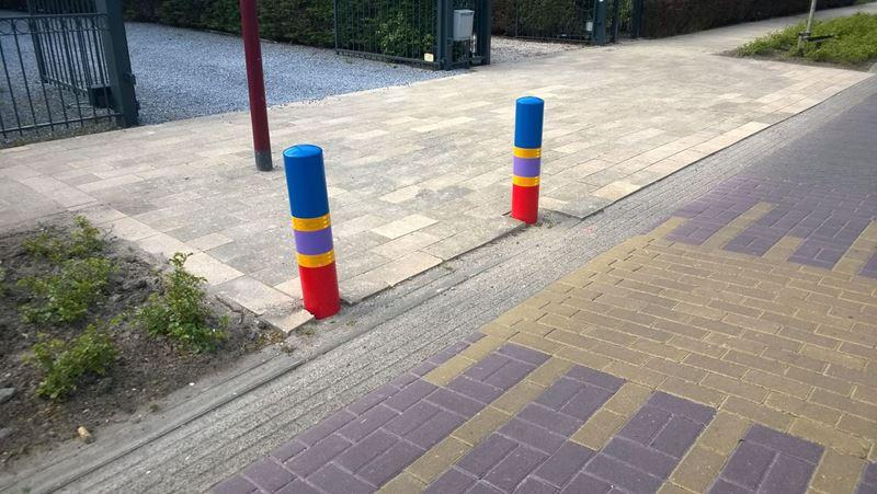 Small multi-colour poles