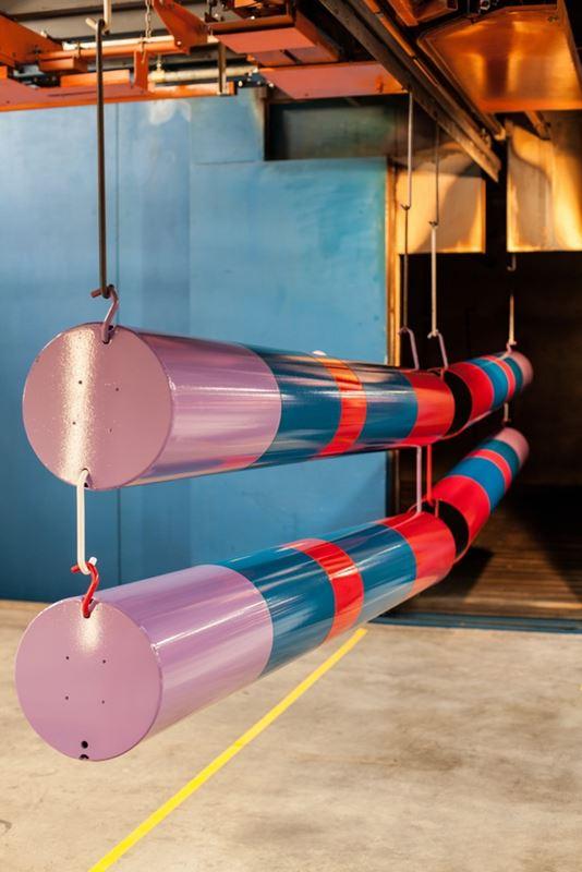 Multi-colour poles
